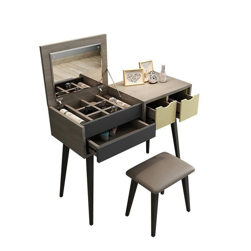 Cut the Nordic modern minimalist dresser bedroom flip multi-functional dressing small apartment mini make-up table the apartment