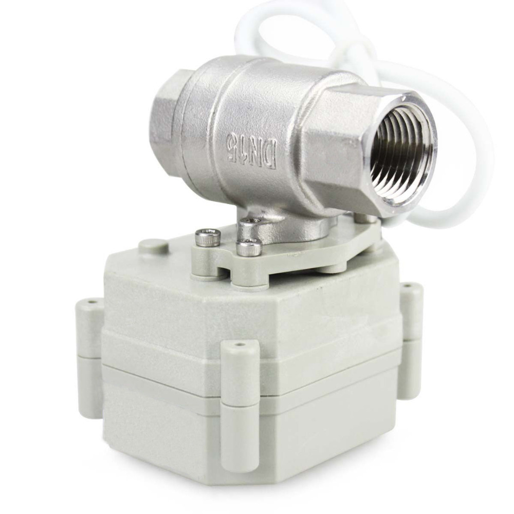 HSH Flo 1 DN25 2 Way SS304 Motorized Ball Valve 1 Inch Electrical Ball Valve
