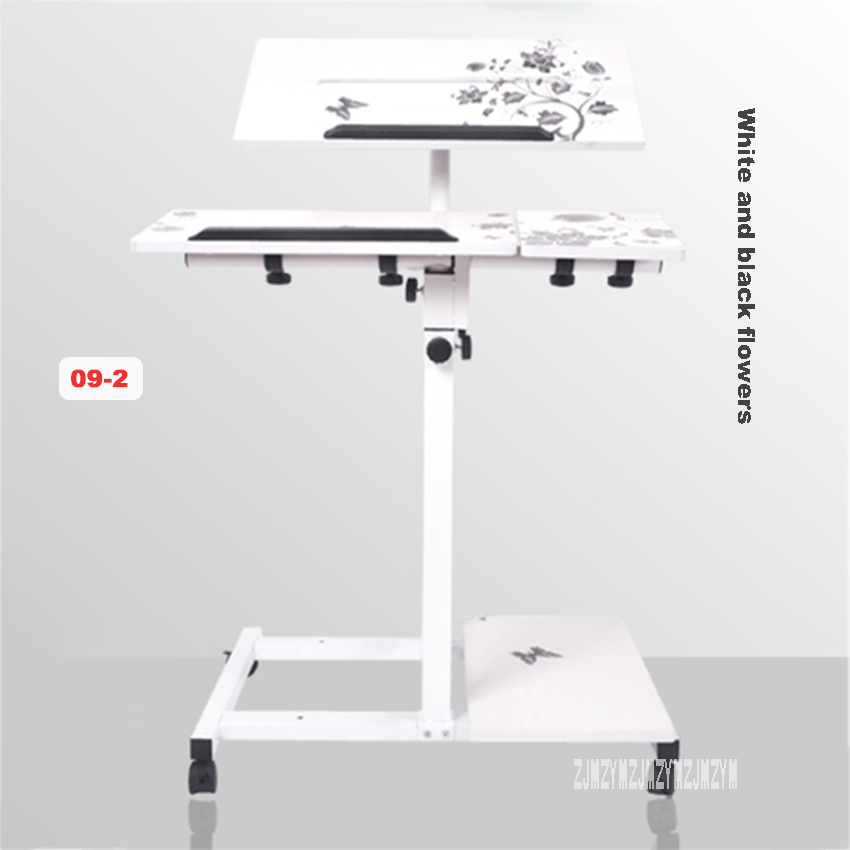 Computer Desk Height-Adjustable Desk Laptop Table Stand-up Folding Notebook Table Lift Bedside Mobile Table Lazy Modern Simple