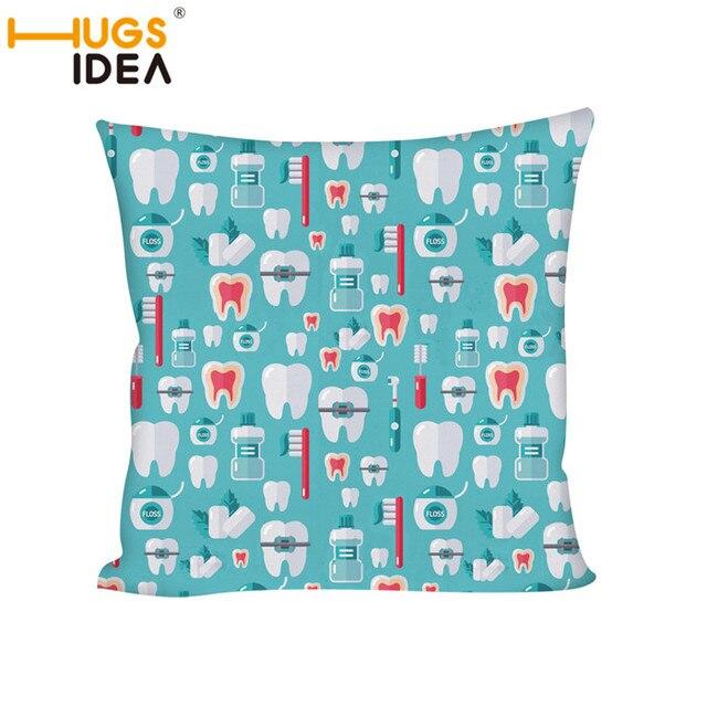 HUGSIDEA Funny 3D Dentist Gift Math Print Bedding Square Pillow ...