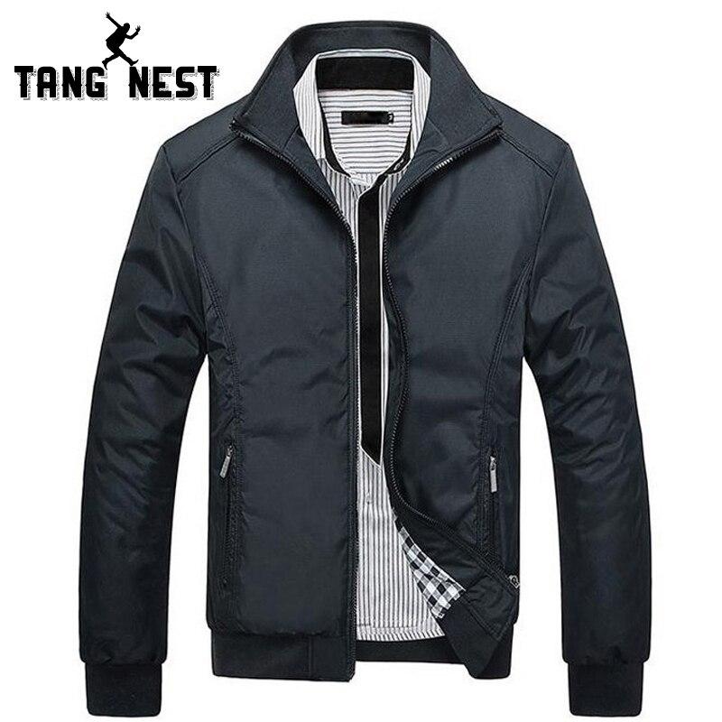TANGNEST Männer der Jacken 2018 der Männer Neue Beiläufige Jacke Hohe Qualität Frühling Regelmäßige Dünne Jacke Mantel Für Männliche Großhandel MWJ682
