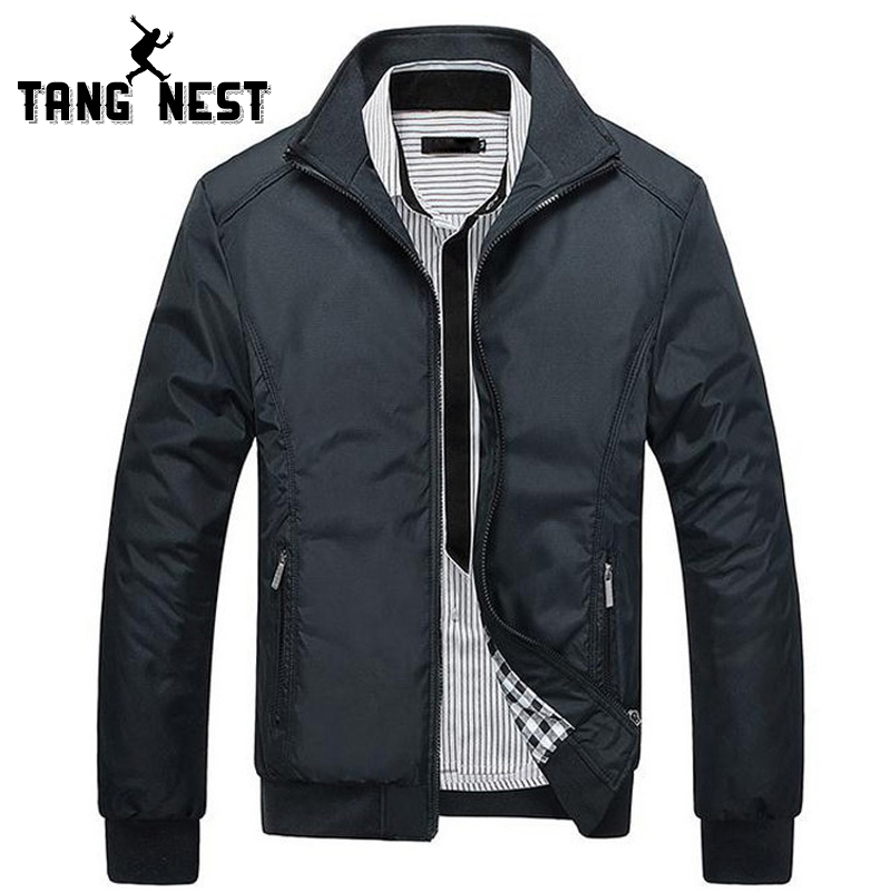 TANGNEST Men's Jackets 2017 Men's New Casual Jacket High Quality Spring Regular Slim Jacket Coat For Male Wholesale MWJ682