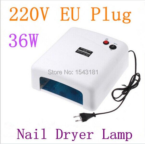36w 220v eu gel uv curing professional ultraviolet l light nail dryer nail led l