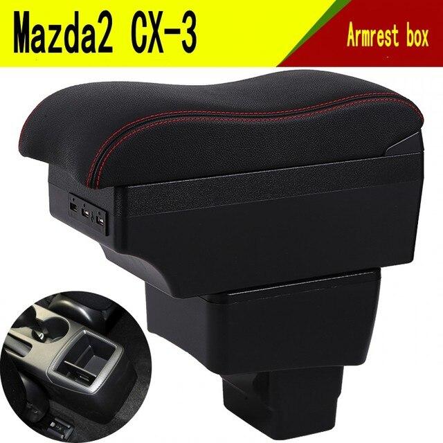 Per Mazda CX 3 CX 3 CX3 bracciolo scatola di interfaccia di Ricarica USB intensificare centrale contenuti Negozio di supporto di tazza posacenere accessori