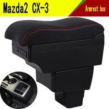 Reposabrazos para Mazda CX 3 CX 3 CX3, interfaz de carga USB, aumenta el contenido de la tienda central, portavasos, Cenicero, accesorios