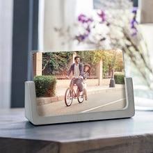 Kreatywna ramka na zdjęcia betonowa silikonowa forma ramka na zdjęcia tynk cementowy rzemiosło formy do dekoracja biurka przezroczysta żywica epoksydowa