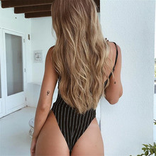 Striped Backless Bodysuit SR01