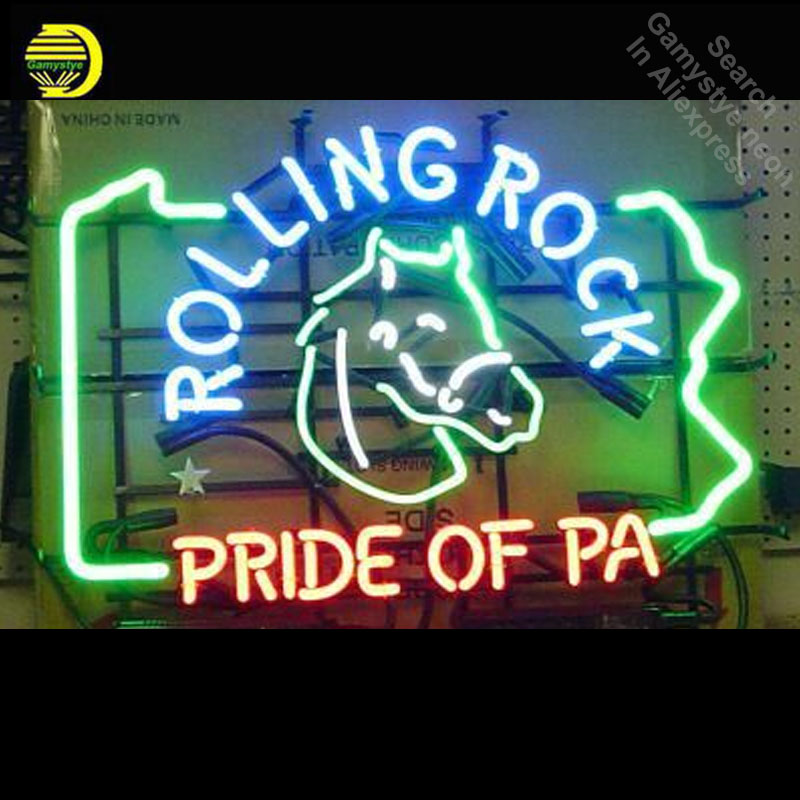 Rolling rock Neon Sign neon Signs Pride Glass Tube neon