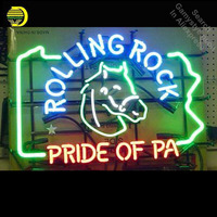 Rolling rock Neon Sign neon Signs Pride Glass Tube neon lights Recreation Room Home Windows Iconic Sign Neon Light LAmps Art Neon Bulbs & Tubes     -