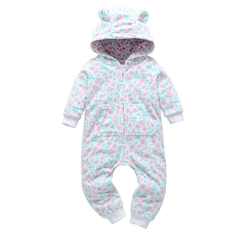 HTB1L3Vva6fguuRjy1zeq6z0KFXaj 2018 New Bebes Clothes Newborn One Piece Fleece Hooded Jumpsuit Long Sleeved Spring Baby Girls Boys Body Suits Romper