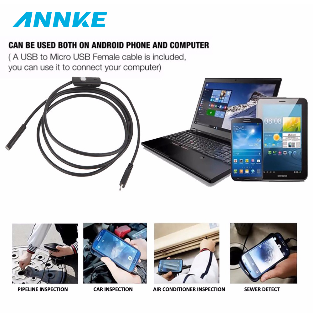 7mm&1M-5M 5mm&1.5M-5M Android Endoscope 5mm 6 LED USB Waterproof Borescope Inspection Camera Snake Tube Pipe Mini Cameras рейсмусовый станок jet jwp 16 os 708531t
