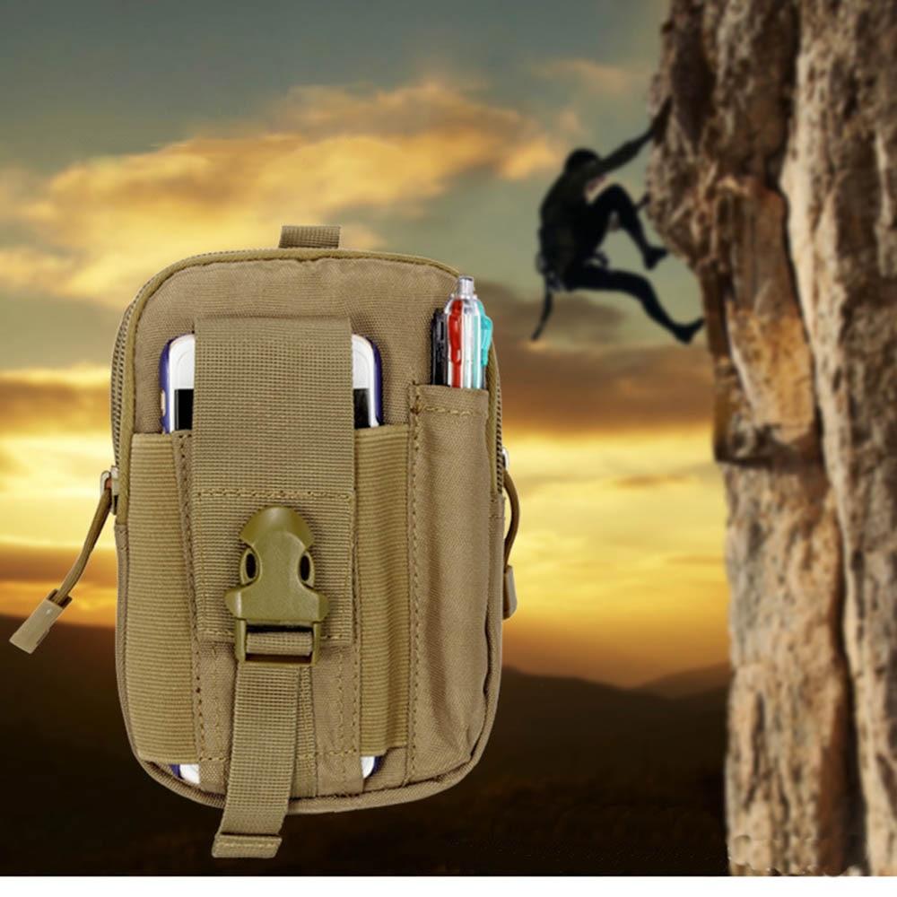 Belt Zipper Bag Wallet Pouch Purse Case Universal Outdoor Case Bag For iPhoneX 6S 7 Tactical Holster Military Molle Hip Waist