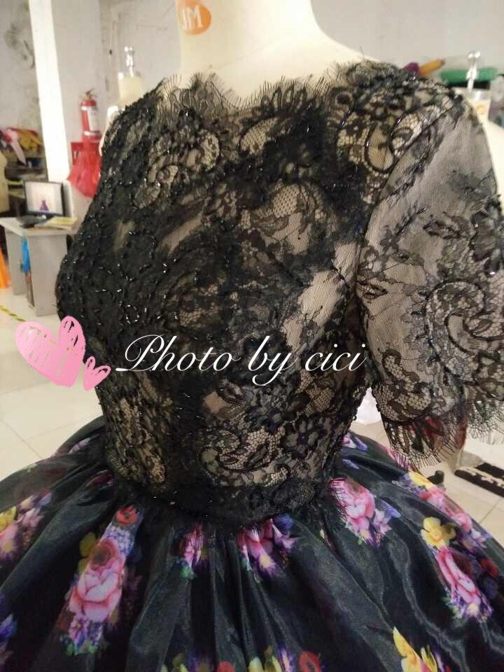 Arab Prom Bridesmaid Dresses 2018 қысқа гүл гүл - Үйлену кешкі көйлектер - фото 3