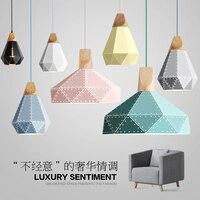 Подвесная лампа в современном минималистическом стиле  цветная светодиодная лампа в скандинавском стиле для домашнего освещения  бар  рест...
