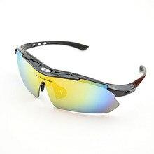 Фотография Polarized TR90 Cycling Glasses, Unisex Bike Sunglasses,  Outdoor Sport Goggles, 5 Lens Eyewear for Men and Women, UV400