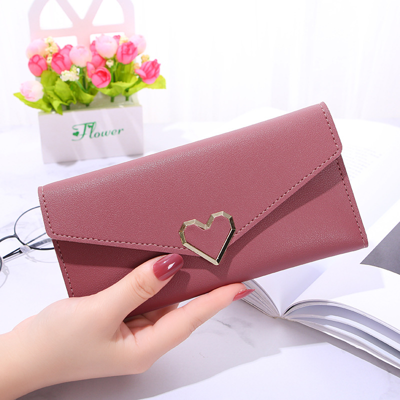 Women 39 s wallet Long Purses Tassel Fashion Coin Purse Card Holder Female High Quality love Clutch Money Bag PU Leather Wallet 433 in Wallets from Luggage amp Bags