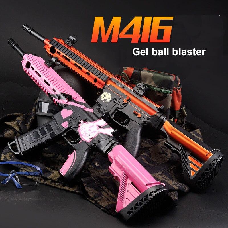 Zhenduo M416 balles à eau douce en rafale électrique pistolet à Air comprimé Gel balle Blaster SniperToy pistolet pour passe-temps en plein Air