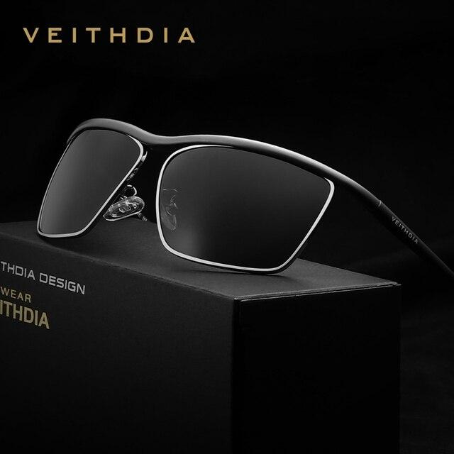 VEITHDIA Marca hombres gafas de Sol Polarizadas De Magnesio Y Aluminio Espejo Lente Gafas Accesorios Gafas de Sol Al Aire Libre Para Los Hombres 6381