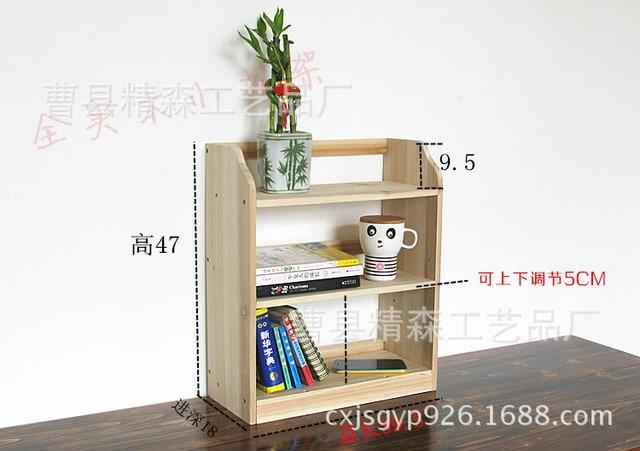 Ikea Scaffalature Legno.Us 130 48 Jing Sen Creativo Legno Di Stoccaggio Rack Scaffali Scaffalature Studente Ikea Semplice Piccola Libreria In Jing Sen Creativo Legno Di