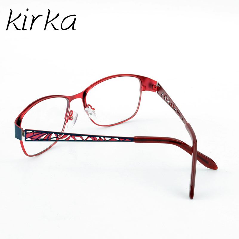 Kirka Metal Red Temperament Women Glasses Frame Ladise Type ...