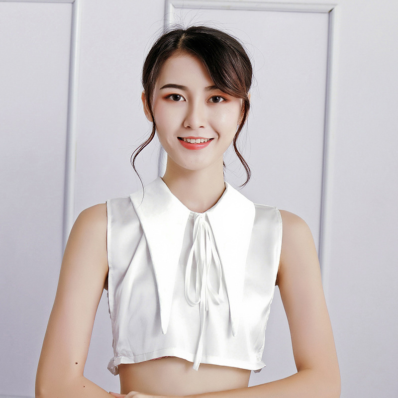 Women Fake Collar Bowknot Adjustable Detachable Half Triangle Shirts For Matching Tops  Jewelry Accessories