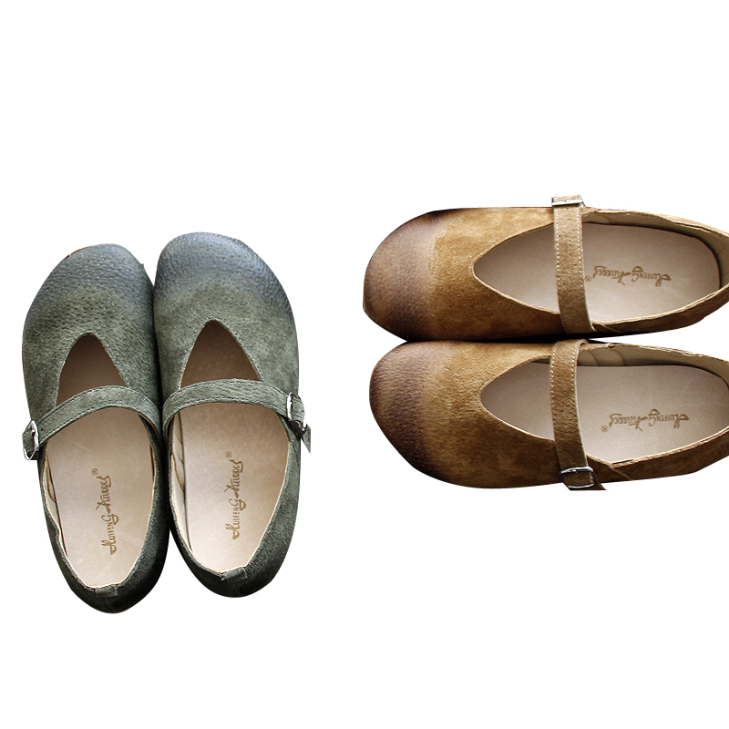 Hot selling,2017 Mori girl original art retro sandals,Summer pure and fresh single shoes,Women soft sole flat shoes,2 colors