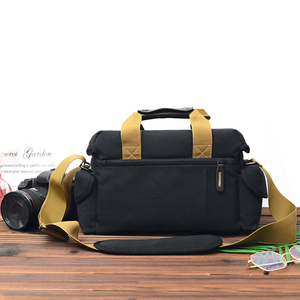Image 4 - Camera Bag Case Canvas DSLR SLR Messenger Shoulder Bag Photo Lens Shockproof Waterproof for Canon EOS Nikon Sony a6000 Panasonic