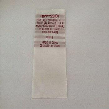 Custom 4*9cm Single Brocade Wash Care Label woven label