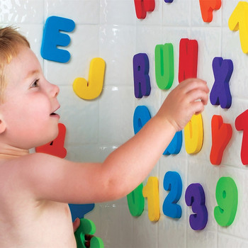 36pcs Baby Bath EVA Toys Alphanumeric Letter Puzzle Water Bathing Toy for Children Early Educational Fun Learning