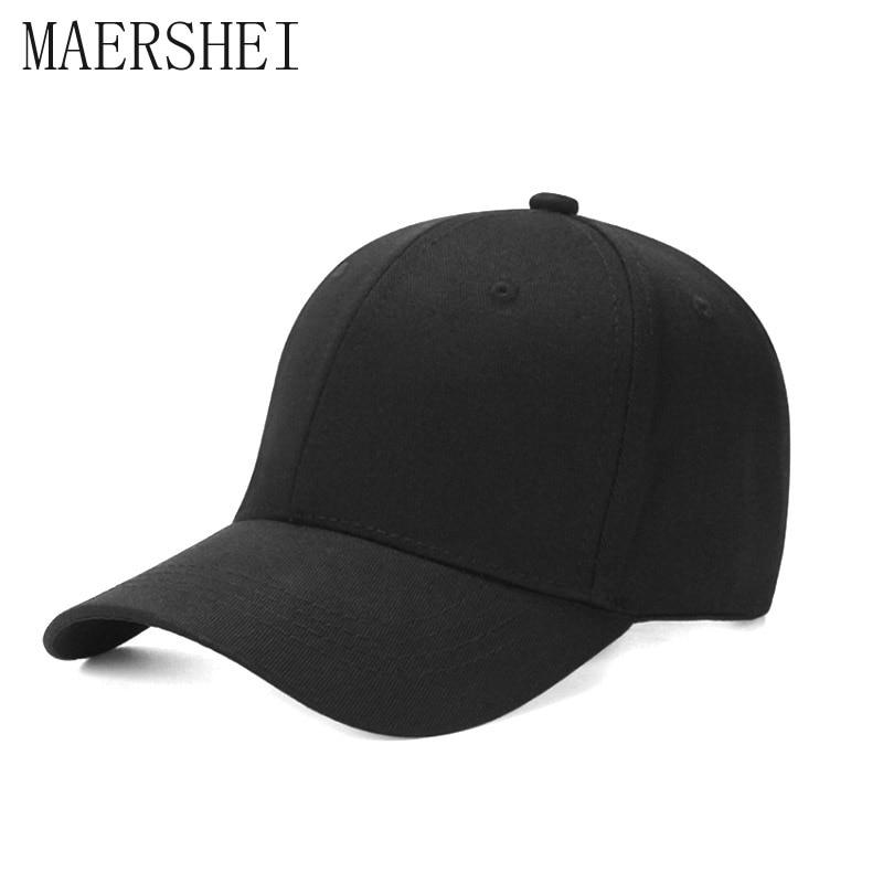 MAERSHEI Women Baseball Caps For Men Brand Snapback Plain Solid Color Gorras Caps Hats Fashion Casquette Bone FemaLe Dad Cap