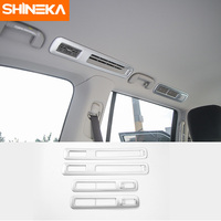 SHINEKA Rear Air Vent Decorative Trim Top Outlet Cover for Nissan Patrol 2017 Interior Accessories ABS 4pcs