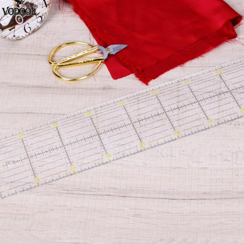 DIY Acrylic Clothes Quilting Sewing Patchwork Ruler Needlework Cutting Tool reglas patchwork patchwork ruler regle diy tools wavy maker ruler patchwork quilting foot professional cutting ruler seam aligned patchwork ruler free shipping