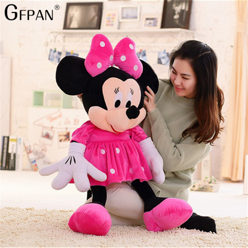 1pc 50cm Classical Popular Stuffed Plush Toy Lovely Mickey Minnie Goofy Pluto Newborn Player Toy For Children Christmas Gifts