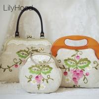 2018 Women Spring Embroidered Burlap Jute Shoulder Bag Handmade Female Floral Retro Chic Vintage Rustic Style Wedding Funky Bag