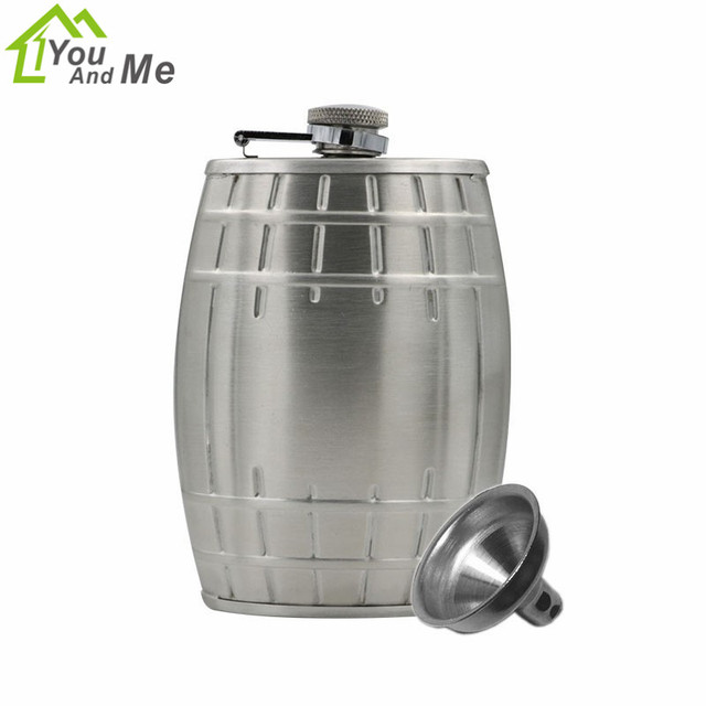 6 oz Stainless Steel Silver Hip Flask Durable Without Leather Whiskey Flask With Funnel For Bar Home Wine Pot