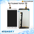 5.5 inch Tested For Huawei Honor 3X LCD G750 Display Screen With Touch Digitizer Assembly Black White 1 Piece Free Shipping