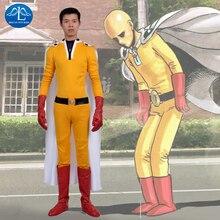 Men's ONE PUNCH-MAN Cosplay Costume Men's Jumpsuits, Cloak, Belt, Gloves, Shoes Cover Set