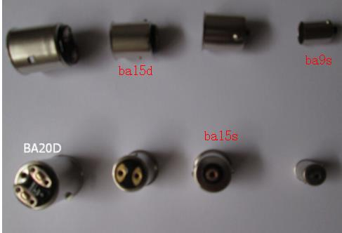 Mix 10kinds 10pcs P15d-30 P15d-25-1 Ba15s Ba15d Ba9s Bax9s Bay9s Ba20d Bay15d Bau15s Bay15s Lamp Holder Light Socket