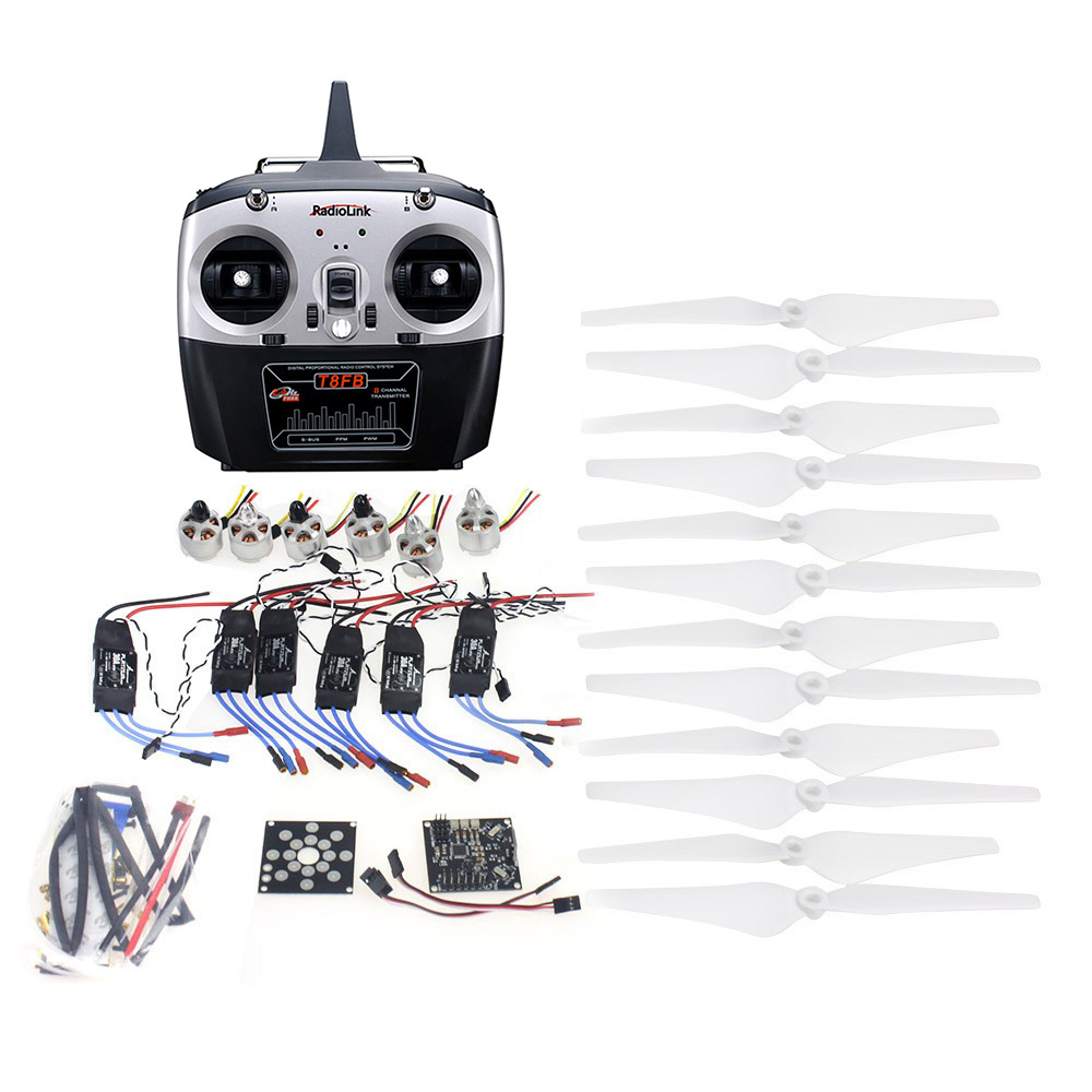 RC HexaCopter ARF Electronic:30A ESC 920KV Motor KKMulticopter V2.3 Control Board  Propeller Radiolink T8fb 8CH  RX&RX F14711-J f15276 a rc hexacopter aircraft electronic kit 700kv brushless motor 30a esc 1255 propeller gps apm2 8 flight control diy drone