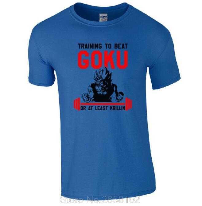 Traininger бить футболка Goku-по мотивам Dragon Ball Krillin высокого геймеров пленка футболка, новая мода, хлопок, Для мужчин в стиле «хип футболка хип-хоп