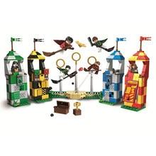 Новый Совместимость с Legoings Гарри Поттер рисунок фильм Quidditch матч строительные блоки кирпичи игрушка для детей рождественские подарки