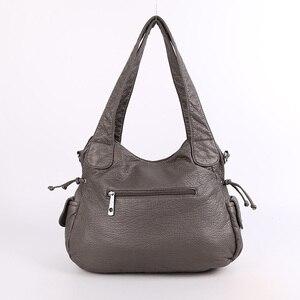 Image 3 - Модная высококачественная повседневная дизайнерская сумка хобо, женские сумки, сумки из мытой искусственной кожи, сумки слинги на плечо для женщин