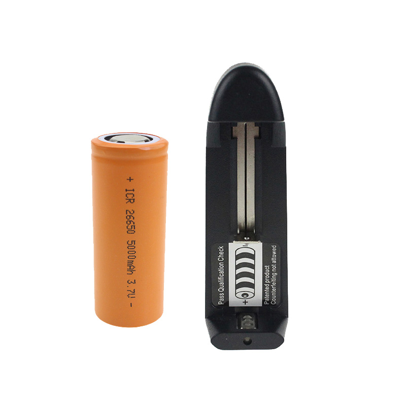 1pcs Charger And 1pcs Orange Battery For 1 26650 5000mah Rechargeable Lithium Battery 1 Universal Single