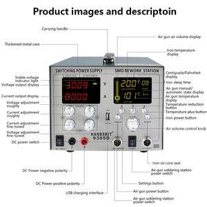 Image 3 - Fuente de alimentación 4 en 1 SMD 30V 5A DC Bga Estación de Reparación de pistola de aire caliente automática, Estación de Reparación de sueño, soldadura de hierro 110V/220V Usb 5V 2A