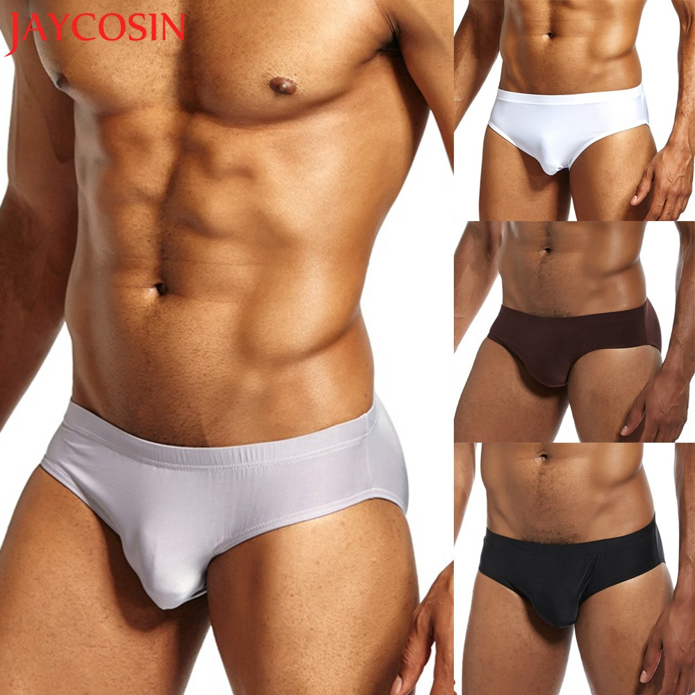 2018 Mens Underwear Shorts Underpants Breathable Soft Briefs Solid color Panties Dropping Oct.1