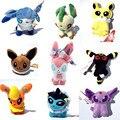 """Cartoon Plush Toys 8 styles Umbreon Eevee Espeon Jolteon Vaporeon Flareon Glaceon Leafeon Pikachu 5"""" Soft Stuffed Animals Dolls"""