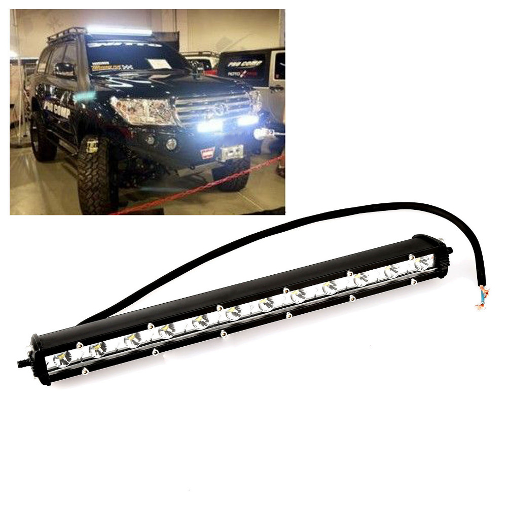 Super Bright 13Inch 36W 12 LED Light Bar Spot Flood Work Driving Offroad Lamp For SUV JEEP Vehicle Boat 4WD Truck Brand New atreus 50w 7 led spot light with remote control searching lights for jeep suv truck hunting boat camp lamp bulb car accessories