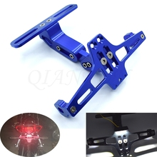 Universal motorcycle CNC aluminum alloy license plate bracket with LED lights For Ducati MS4 996 998 748 750SS MTS1100 SPORT 100