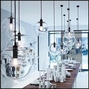 Image 4 - NASN LED ارتفع الذهب الزجاج قلادة أضواء كرة زجاجية تعليق مصباح بريق تعليق أضواء المطبخ تركيبات المنزل مصابيح تعليق للزينة E27