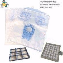 Vervanging stof zakken met HEPA filters voor Bosch BSG8 VS08 Type P Vacuüm Hoover tassen BSG82000 om BSG89999 BBZ41FP BBZ52AFP1